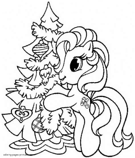 Coloring Pages: My Little Pony Christmas Coloring Pages To
