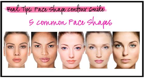 real tips face shape contour guide behind the look