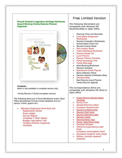 family reunion ideas free family reunion planner