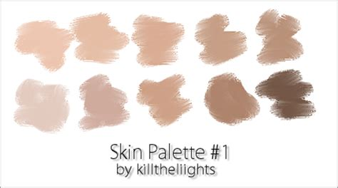 skin colour palette by killtheliights on deviantart