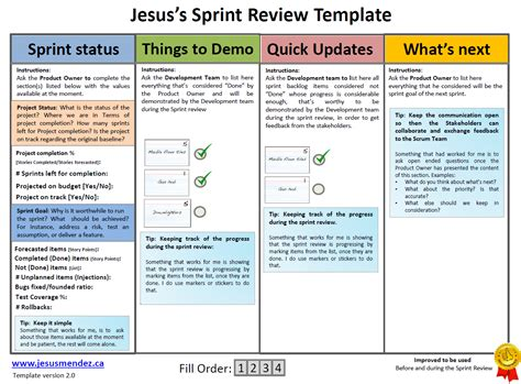 Techniques To Improve Sprint Review Jesus Mendez Scrum Meeting Template