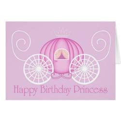 happy birthday princess card blank card zazzle