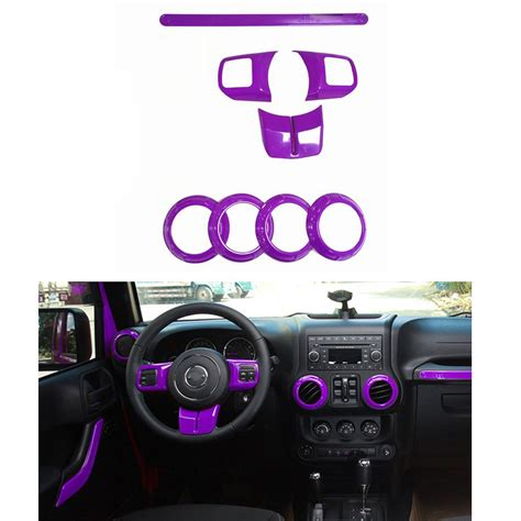 8 Purple Accessories by Purple Inner Accessories Frame Cover Trim 8pc For Jeep