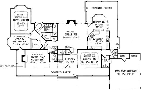 open floor plan farmhouse 30081rt 2nd floor master two wrap around porches 3834ja 1st floor master suite
