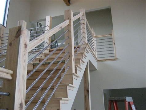 woodworking home cable rail staircase stairs projects