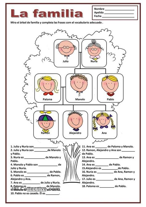 La Familia Worksheets by La Familia Teaching Grammar