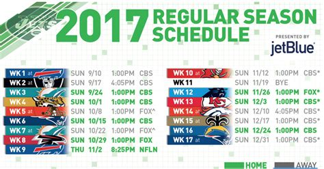 2017 ny jets schedule sports