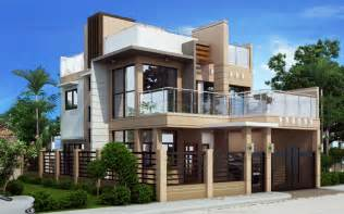 Design My House Ricardo Two Storey Modern With Firewall Phd Ts 2016023