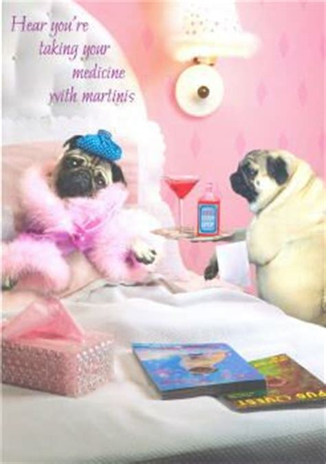 get well pug pugs dogbreed gifts pug greeting cards notecards