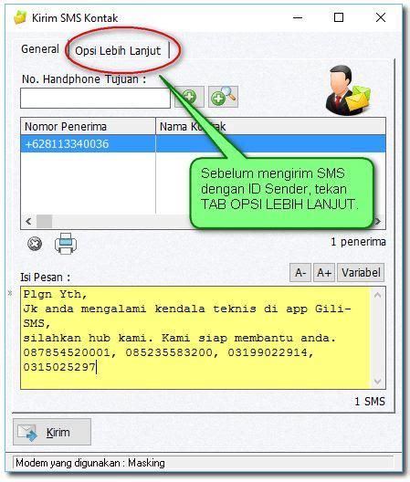 Sms Center Untuk Perusahaan mengirim sms dengan identitas nama perusahaan