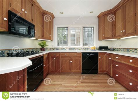kitchen in suburban home royalty free stock photos image