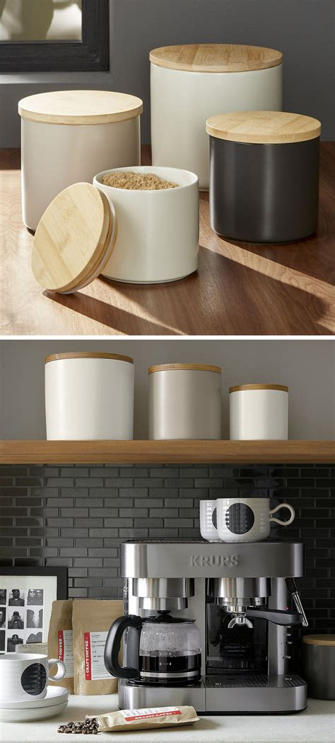 Black And White Kitchen Canisters keep your food and decor fresh with these 13 modern jars