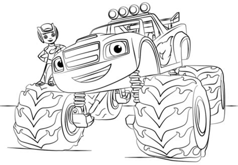 Transformer Dino Robot Dinosaurus Road Wheel M4 blaze truck coloring page free printable coloring pages