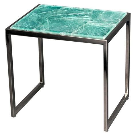 Quartz Side Table Hyaline Green Quartz Side Table By Giuliano Tincani Made In Italy For Sale At 1stdibs