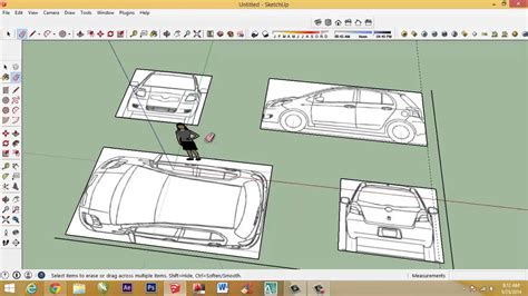 How To Make Blueprints how to make car with sketchup setting car blueprint