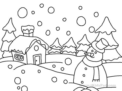 winter scene coloring pages for kids sketch coloring page