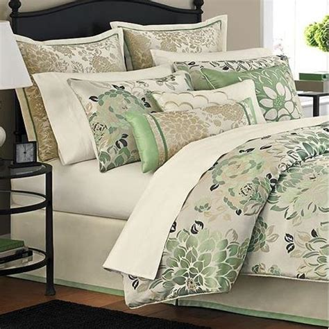 Jade Comforter Set by Martha Stewart Jade Flowers 9 Comforter Bed In