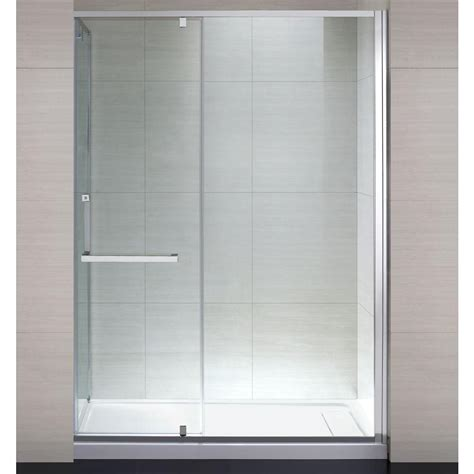 Clear Glass Shower Doors Schon 60 In X 79 In Semi Framed Shower Enclosure With Hinged Glass Shower Door In