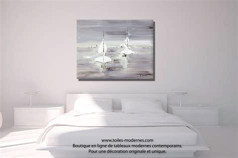 Charmant Tableau Decoratif Salon #3: Tableau-gris-blanc-d%C3%A9co-chambre-Voyage-en-mer.jpg