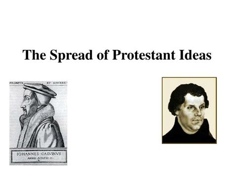 ppt the spread of protestant ideas powerpoint presentation id 1889164