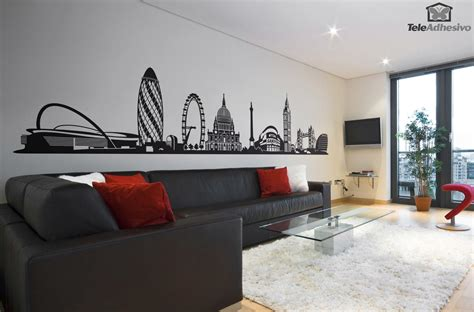 Wall Mural Stickers vinilo decorativo skyline de londres teleadhesivo com