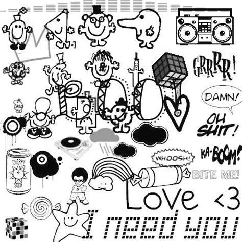 free doodle fonts photoshop random doodle brushes by anonymous 16 on deviantart