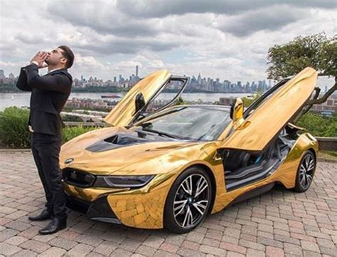 bmw i8 gold ridiculous our boy cobypersin rockin his gold bmw i8