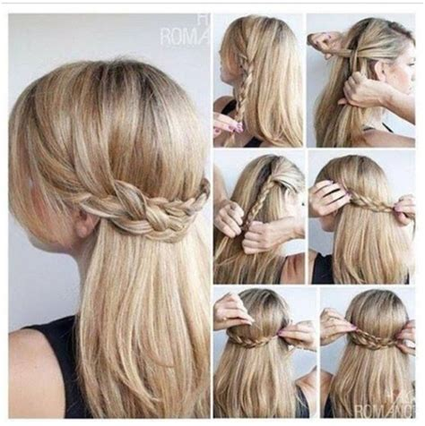 pretty easy hairstyles braids prom hairstyles for long straight hair with braids