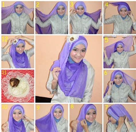 tutorial cara berhijab zoya tutorial hijab el zatta cara dan model menggunakan hijab