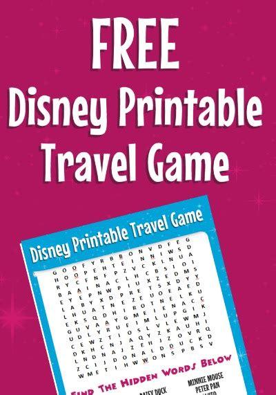 printable disney games free disney word search more printable travel games for kids