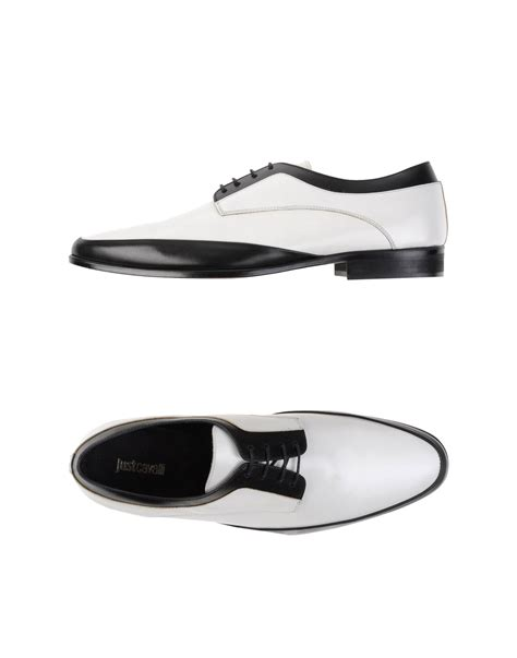just for shoes just cavalli lace up shoes in black for lyst