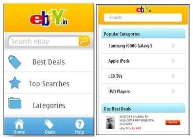 ebay india mobile ebay india launches ebay shopping app for nokia phones