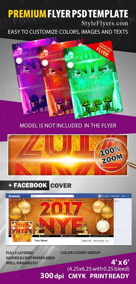 2017 Ny Party Psd Flyer Template 13213 Styleflyers Ad Template 2017