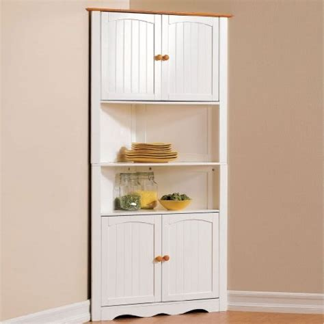 country kitchen corner cabinet brylanehome country kitchen corner cabinet white honey 0