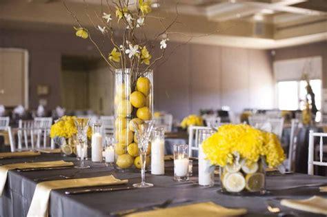 Lemon Decorations by A Fresh Gray And Yellow Wedding A Affair Event Design A Affair