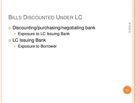negotiating bank in lc exposure norms