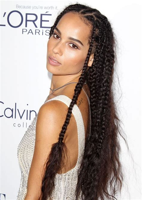 braid hairstyles on pinterest 138 pins zoe kravitz with braids at the elle women in hollywood