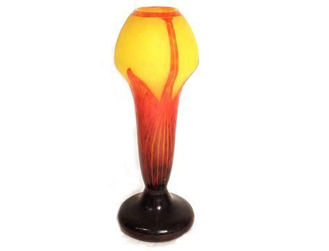 Grand vase pâte de verre Le verre Français Schneider