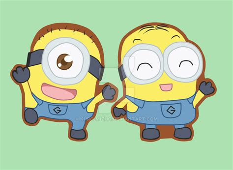 imagenes de los minions kawaii minions dave and carl keychains by kuro mizuo on deviantart