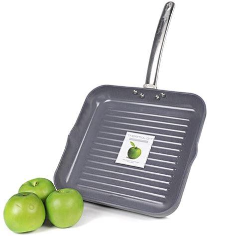 Square Grill Pan Teplon Non Stick Frying Pan Wajan Mini Panci greenpan professional series 11 quot thermolon non stick