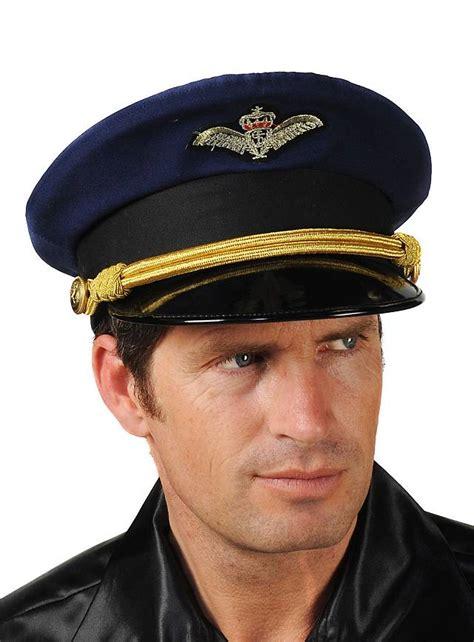 Pilot Hat 1 pilot hat blue