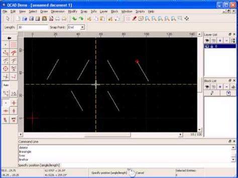 tutorial qcad youtube tutorial qcad 3 de 32 linha com angulo youtube