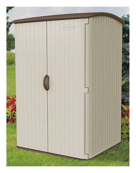 suncast bms6500 vertical storage shed 48 3 4 in l x 56 in