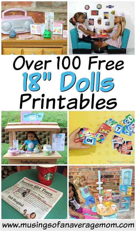 18 Inch Doll Printables musings of an average 100 free 18 quot doll printables