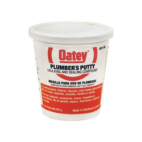 how to use plumbers putty on a bathroom sink drain oatey 14 oz plumber s putty 311662 the home depot