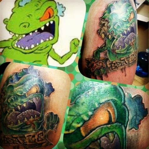 tattoo reptar zombie dinosaur trex cartoon uncategorized