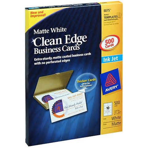 avery business card 50 sheets avery clean edge business cards stock 500 ebay