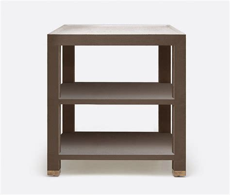 jarin side table   goods features  brown faux