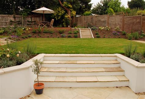 Sloping Garden Design Ideas Uk Dealing With Sloped Gardens Cox Garden Designs