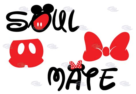 Mickey Minnie Bow soul mate mickey mouse minnie mouse bow married